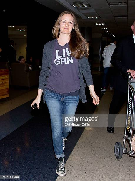 Alicia Silverstone is seen at LAX airport on February 06 2014 in Los Angeles California