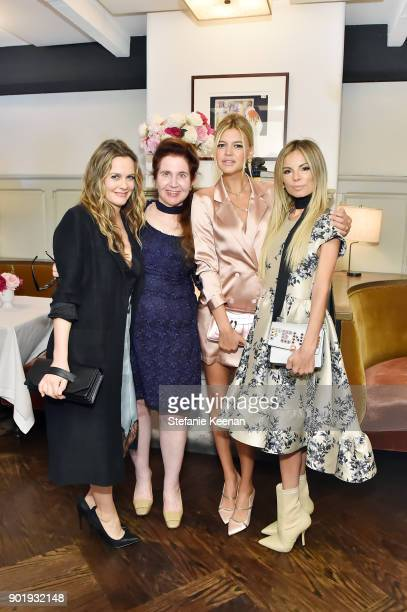 Alicia Silverstone Lynn Hirschberg Kelly Rohrbach and Erica Pelosini attend Lynn Hirschberg Celebrates W Magazine's It Girls With Dior at AOC on...