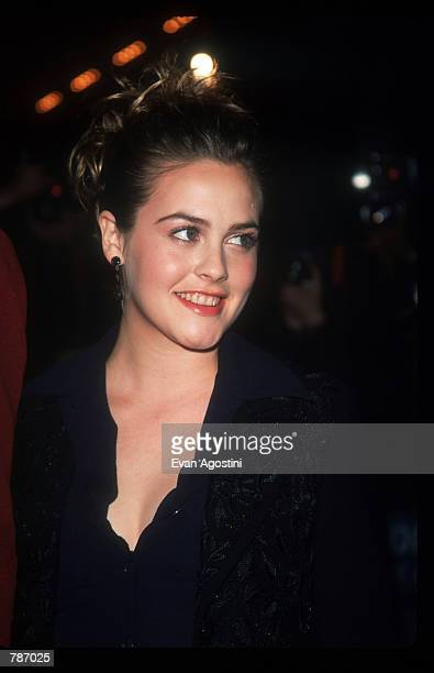 Alicia Silverstone poses for a picture January 27 1999 at the premiere of 'Blast From The Past' in New York City Silverstone plays a young woman who...