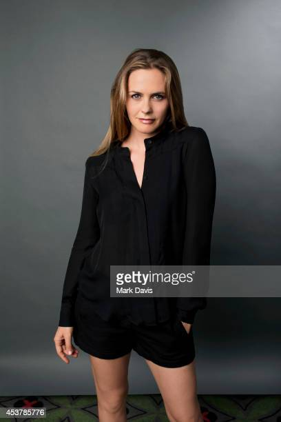 Alicia Silverstone poses for a portait at The Theatre At The Ace Hotel on August 10 2014 in Los Angeles California