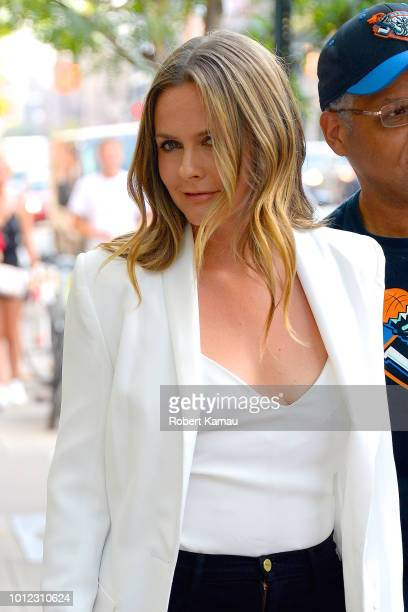 Alicia Silverstone seen out and about in Manhattan on August 6 2018 in New York City