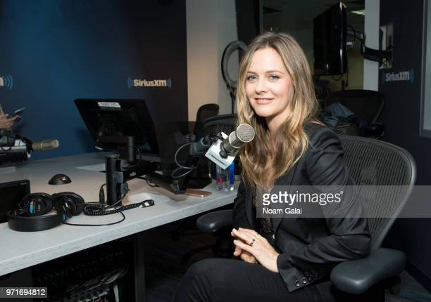 Alicia Silverstone visits SiriusXM Stars with Jenny Hutt at the SiriusXM Studios on June 11 2018 in New York City