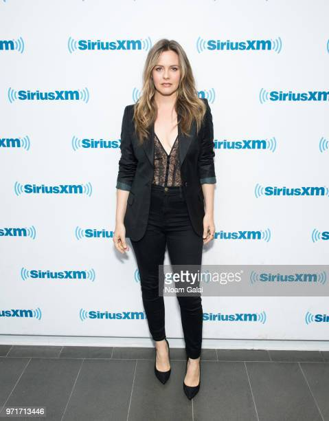 Alicia Silverstone visits the SiriusXM Studios on June 11 2018 in New York City