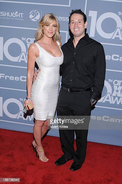 Alicia Sinclair and Robert Rosen attend the 10th Annual XBIZ Awards at The Barker Hanger on January 10 2012 in Santa Monica California