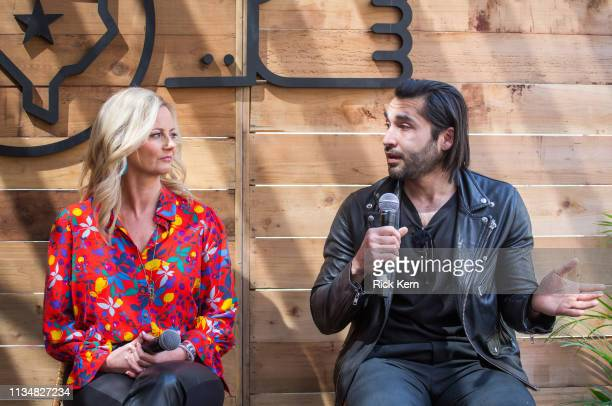 Alicia Tillman CMO SAP and Ahsan Rizvi Founder and CEO Kiddom attend the Fast Company Grill on March 09 2019 in Austin Texas