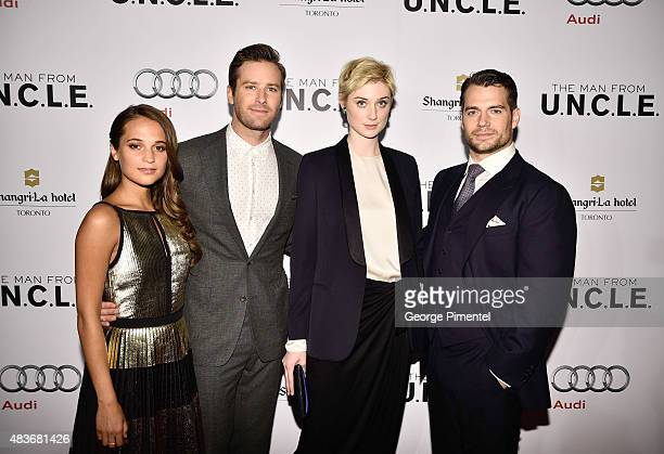 Alicia Vikander Armie Hammer Elizabeth Debicki and Henry Cavill attend Warner Bros Pictures Canada and Audi Canada host a private cocktail reception...