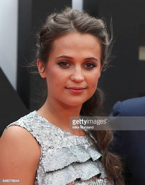 Alicia Vikander arrives for the European premiere of Jason Bourne at Odeon Leicester Square on July 11 2016 in London England