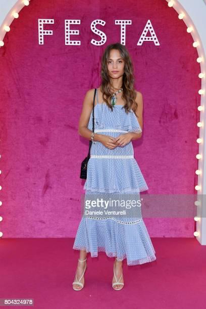 Alicia Vikander attends Bvlgari Party at Scuola Grande della Misericordia on June 29 2017 in Venice Italy