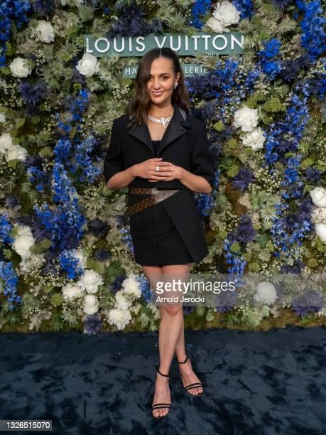 Alicia Vikander attends Haute-Joaillerie dinner at La Vigie Restaurant on July 01, 2021 in Monaco, Monaco.
