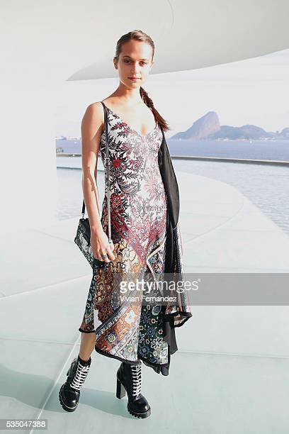 Alicia Vikander attends Louis Vuitton 2017 Cruise Collection at MAC Niter on May 28 2016 in Niteroi Brazil