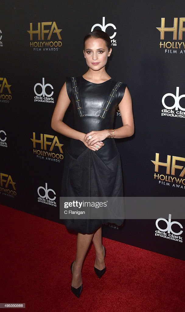 Alicia Vikander attends the 19th Annual Hollywood Film Awards at The Beverly Hilton Hotel on November 1, 2015 in Beverly Hills, California.