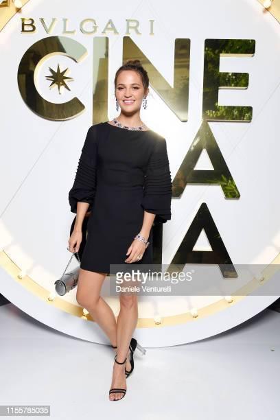 Alicia Vikander attends the Bvlgari Dinner Party on June 13 2019 in Capri Italy
