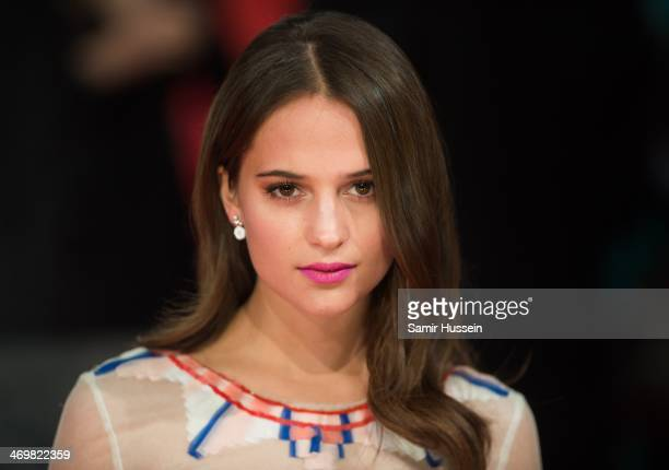 Alicia Vikander attends the EE British Academy Film Awards 2014 at The Royal Opera House on February 16 2014 in London England