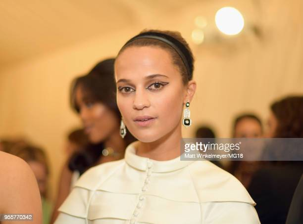 Alicia Vikander attends the Heavenly Bodies Fashion The Catholic Imagination Costume Institute Gala at The Metropolitan Museum of Art on May 7 2018...