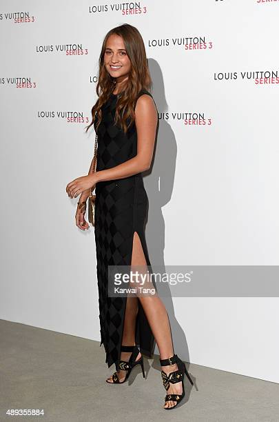 Alicia Vikander attends the Louis Vuitton Series 3 VIP Launch on September 20 2015 in London England