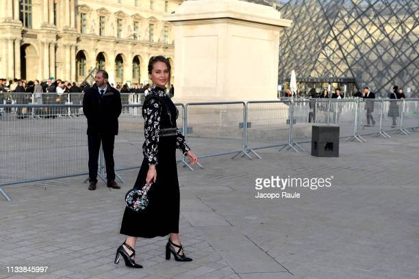 Alicia Vikander attends the Louis Vuitton show as part of the Paris Fashion Week Womenswear Fall/Winter 2019/2020 on March 05 2019 in Paris France