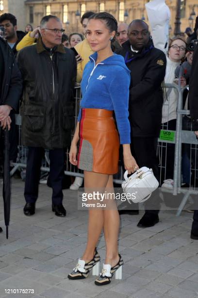 Alicia Vikander attends the Louis Vuitton show as part of the Paris Fashion Week Womenswear Fall/Winter 2020/2021 on March 03 2020 in Paris France