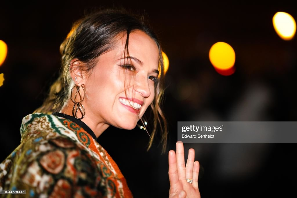 Alicia Vikander Detail: Alicia Vikander Attends The Louis Vuitton Show, During