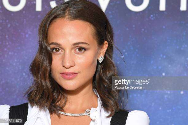 Alicia Vikander attends the Louis Vuitton Stellar Jewelry Cocktail Event at Place Vendome on September 28 2020 in Paris France