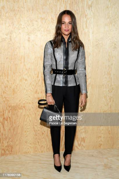 Alicia Vikander attends the Louis Vuitton Womenswear Spring/Summer 2020 show as part of Paris Fashion Week on October 01 2019 in Paris France