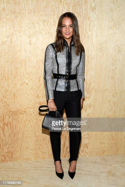 Alicia Vikander attends the Louis Vuitton Womenswear Spring/Summer 2020 show as part of Paris Fashion Week on October 01, 2019 in Paris, France.