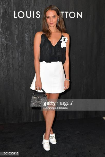 Alicia Vikander attends the Louis Vuitton's Jewelry Launch as part of Paris Fashion Week on January 21 2020 in Paris France