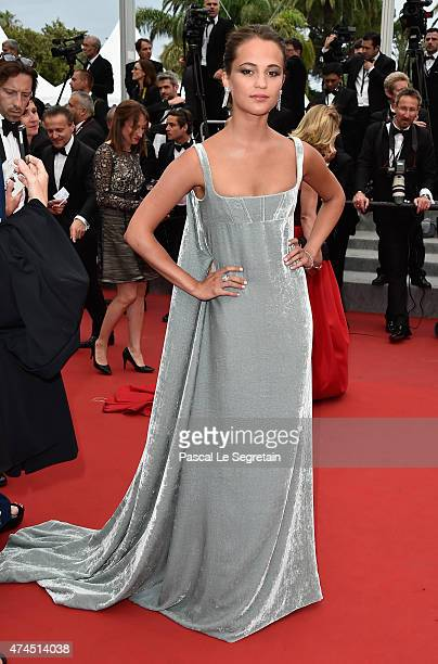 Alicia Vikander attends the 'Macbeth' Premiere during the 68th annual Cannes Film Festival on May 23 2015 in Cannes France