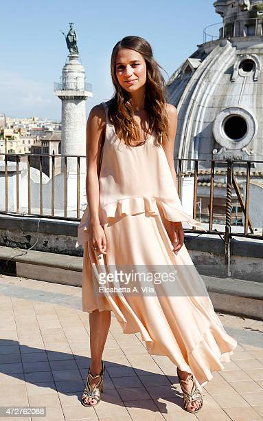 Alicia Vikander attends 'The Man From UNCLE' Photocall at Terrazza Civita on May 9 2015 in Rome Italy