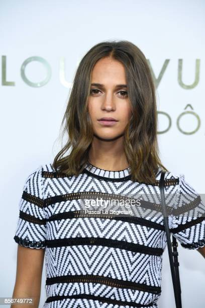 Alicia Vikander attends the Opening Of The Louis Vuitton Boutique as part of the Paris Fashion Week Womenswear Spring/Summer 2018 on October 2 2017...