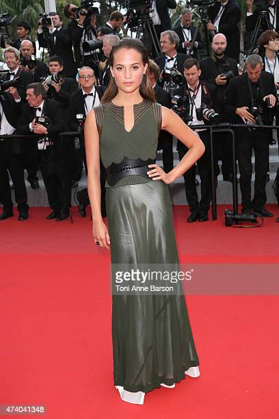Alicia Vikander attends the 'Sicario' premiere during the 68th annual Cannes Film Festival on May 19 2015 in Cannes France