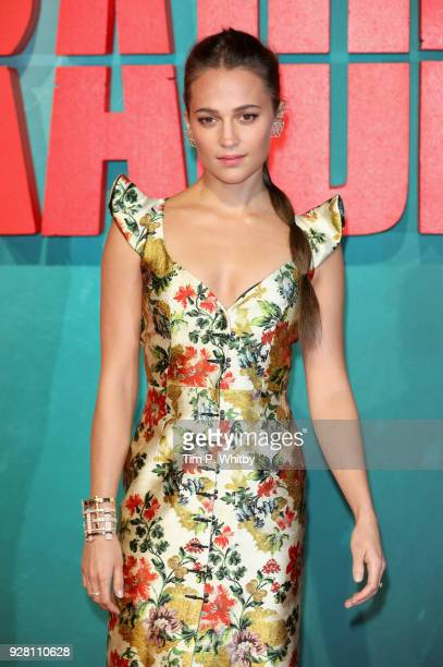 Alicia Vikander attends the 'Tomb Raider' European premiere at the Vue West End on March 6 2018 in London England