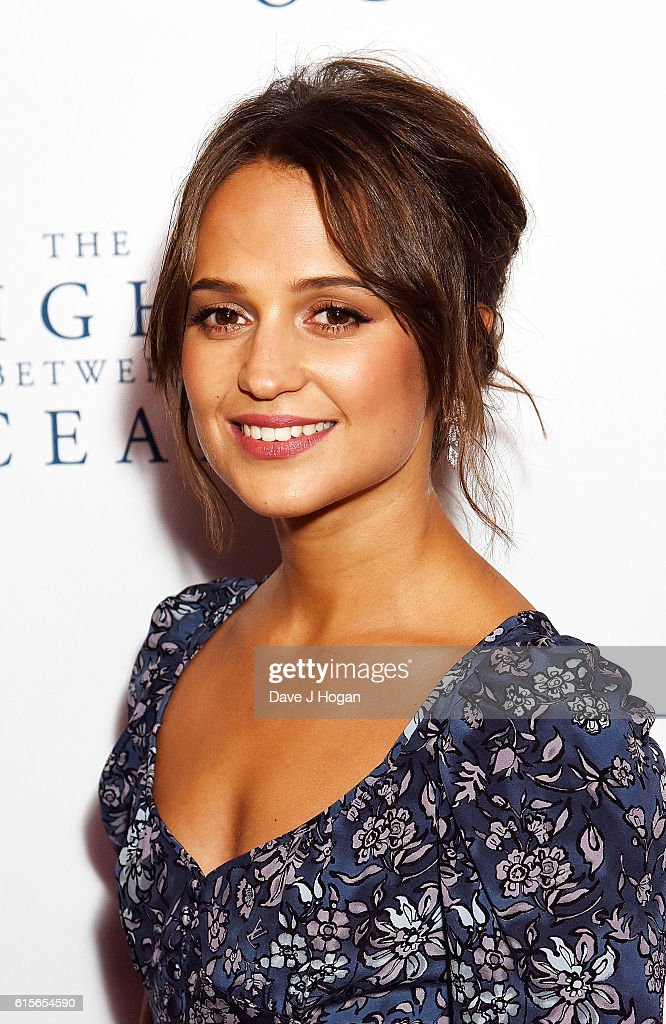 Alicia Vikander attends the UK Premiere of 'The Light Between Oceans' at The Curzon Mayfair on October 19, 2016 in London, England.