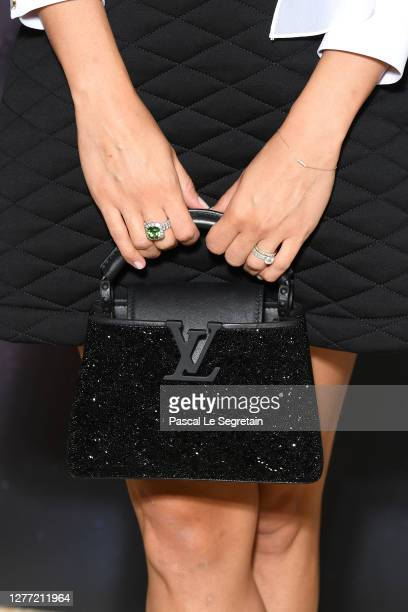 Alicia Vikander bag detail attends the Louis Vuitton Stellar Jewelry Cocktail Event at Place Vendome on September 28 2020 in Paris France