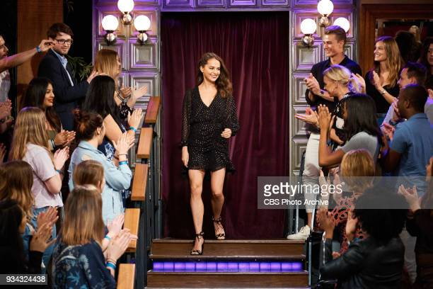 Alicia Vikander greets the audience during The Late Late Show with James Corden Thursday March 15 2018 On The CBS Television Network