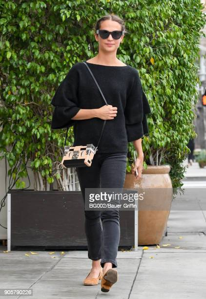 Alicia Vikander is seen on January 16 2018 in Los Angeles California