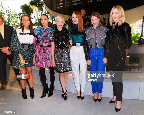 Alicia Vikander, Jennifer Connelly, Michelle Williams, Emma Stone, Lea Seydoux and Cate Blanchett at Louis Vuitton Cruise 2020 Fashion Show on May 8,...