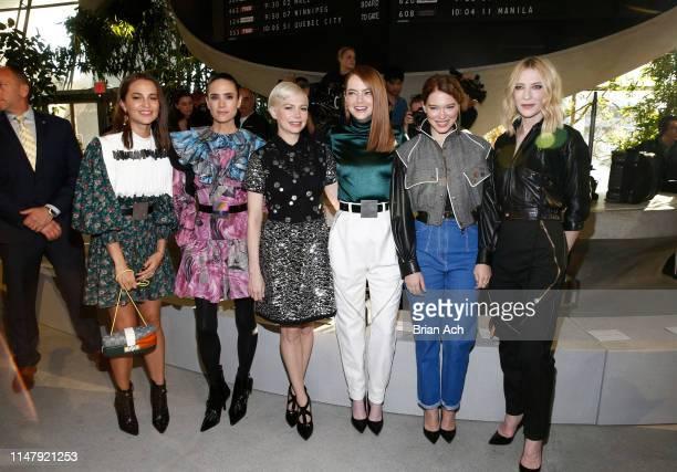 Alicia Vikander , Jennifer Connelly , Michelle Williams, Emma Stone , Lea Seydoux, and Cate Blanchett attend the Louis Vuitton Cruise 2020 Fashion...
