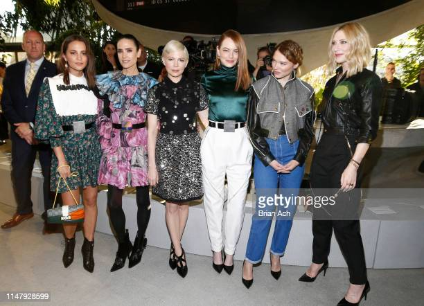 Alicia Vikander Jennifer Connelly Michelle Williams Emma Stone Lea Seydoux and Cate Blanchett attends the Louis Vuitton Cruise 2020 Fashion Show at...