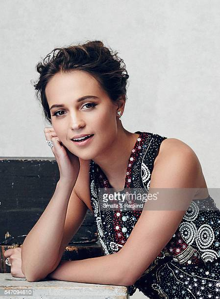 Alicia Vikander poses for a portrait during the 21st Annual Critics' Choice Awards at Barker Hangar on January 17 2016 in Santa Monica California
