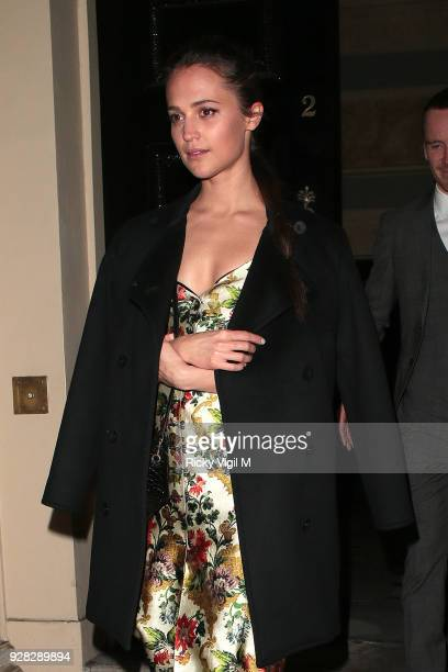 Alicia Vikander seen at Tomb Raider premiere dinner afterparty at Home House on March 6 2018 in London England