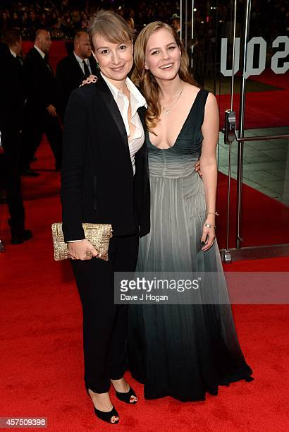 Alicia von Rittberg and Anamaria Marinca attend the closing night European Premiere gala red carpet arrivals for 'Fury' during the 58th BFI London...