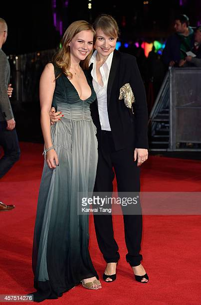 Alicia von Rittberg and Anamaria Marinca attend the closing night Gala screening of 'Fury' during the 58th BFI London Film Festival at Odeon...