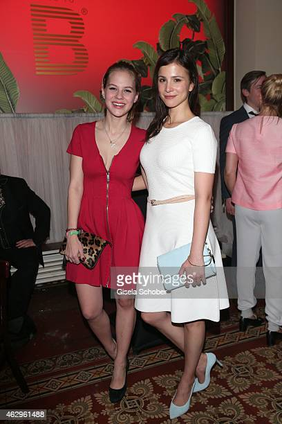 Alicia von Rittberg and Aylin Tezel attend the Bild 'Place to B' Party at Borchardt Restaurant on February 7 2015 in Berlin Germany