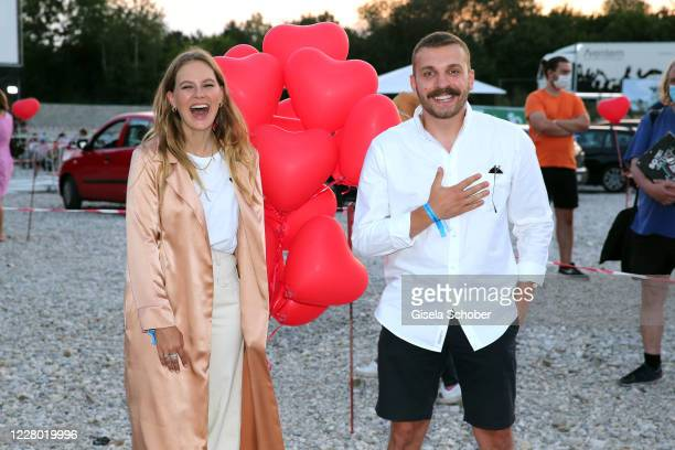 "Alicia von Rittberg and Edin Hasanovic during the premiere of the movie ""Hello Again - Ein Tag fuer immer"" as part of the Filmfest Muenchen Pop-Up..."