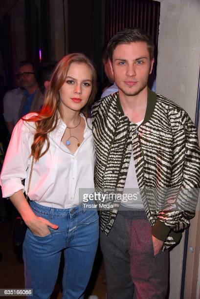 Alicia von Rittberg and Jannik Schuemann attend the Pantaflix Party At The 67th Berlinale International Film Festival on February 13, 2017 in Berlin,...