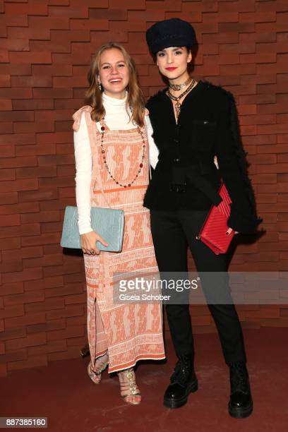 Alicia von Rittberg and Luise Befort during the Chanel Trombinoscope Collection des Metiers d'Art 2017/18 photo call at Elbphilharmonie on December 6...