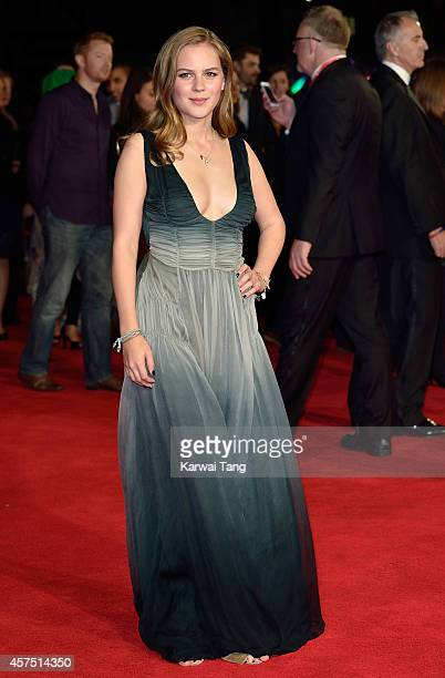 Alicia von Rittberg attends the closing night Gala screening of 'Fury' during the 58th BFI London Film Festival at Odeon Leicester Square on October...