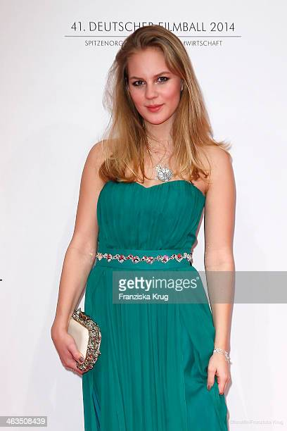 Alicia von Rittberg attends the German Film Ball 2014 on January 18 2014 in Munich Germany
