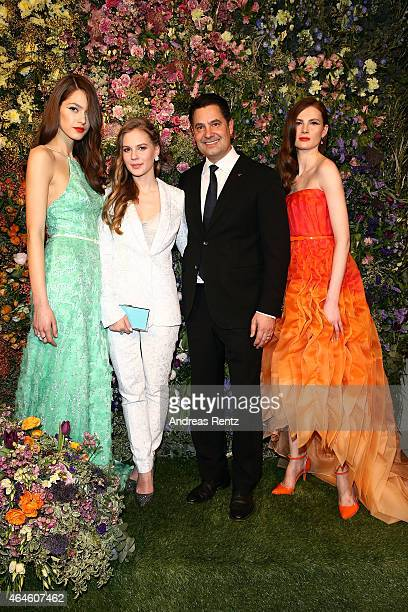 Alicia Von Rittberg Christian Kurtzke and models attend the Meissen Couture FW15 presentation during Milan Fashion Week on February 26 2015 in Milan...