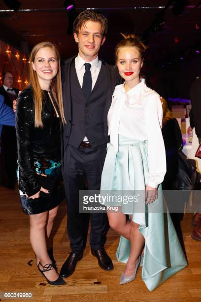 Alicia von Rittberg Jannis Niewoehner and Sonja Gerhardt attend the Jupiter Award at Cafe Moskau on March 29 2017 in Berlin Germany